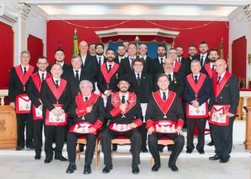 """Sessão conjunta das Lojas """"Vanguarda"""" e """"Sentinela do Sul"""""""